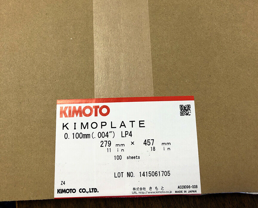 Kimoto Kimoplate LP4 10 X 15 12430