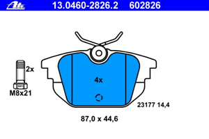 Bremsbelagsatz Frein À Disque-UAT 13.0460-2826.2