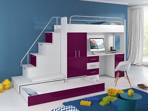 Kinderhochbett Mit Schreibtisch Und Schrank 2021