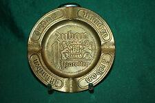 Antiker Aschenbecher Zuban Zigaretten München, Messingblech geprägt, selten