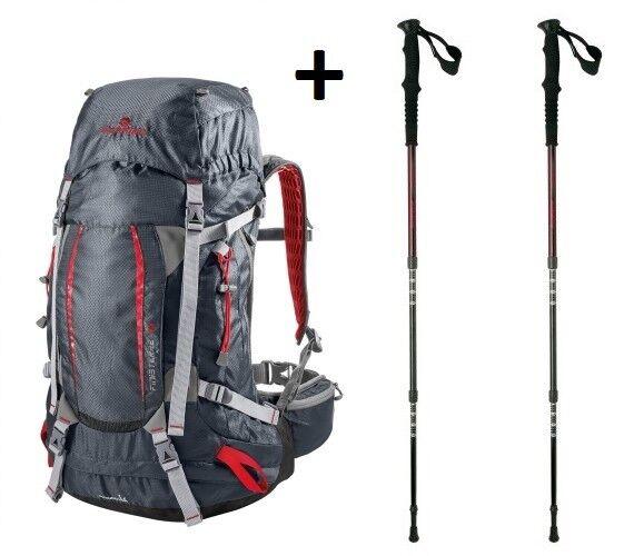 più foto db12f 90a94 Zaino Trekking Escursionismo Viaggio FERRINO FINISTERRE 48 + Bastoncini  Diorite