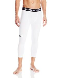 Under-Armour-Men-039-s-HeatGear-Armour-Compression-Base-Layer-Large-White