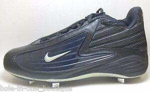 navy metal baseball cleats all black nikes