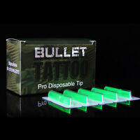 50pcs Box Disposable Sterile Tattoo Tips Rt Round Ft Flat Shader Liner Green