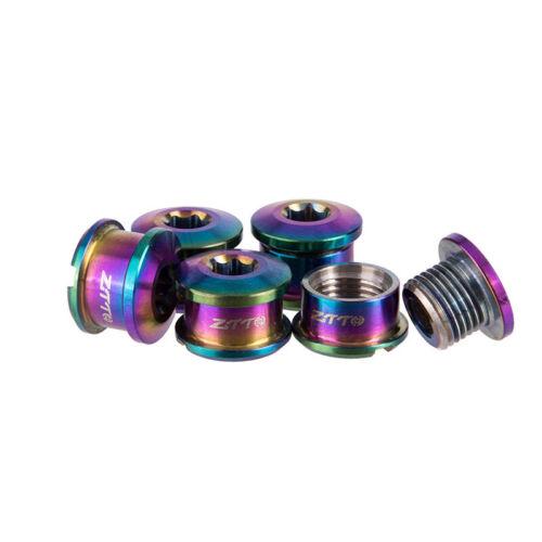 Rainbow Screws 5 Pcs Titanium Alloy Chainring Bolts Mountain Bike Outdoor Sports