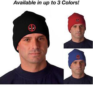 Image is loading Deadpool-Logo-Ryan-Reynolds-Knit-Hat-Beanie-Cap- 7558bd76b5ad