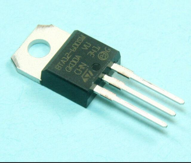 25PCS BTA12-600B BTA12-600 Triac SGS-THOMSON 600 V 12 A