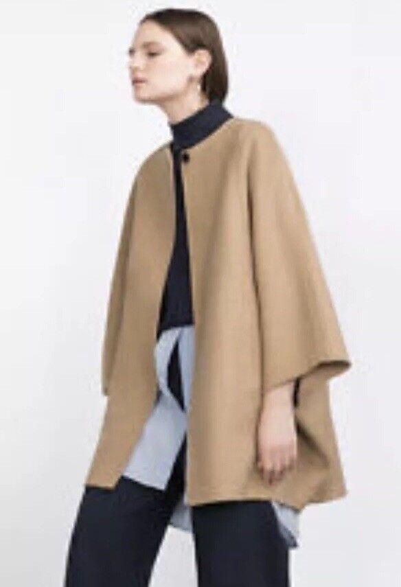 Zara Camel Cape Coat Bnwt M Ladies Women's