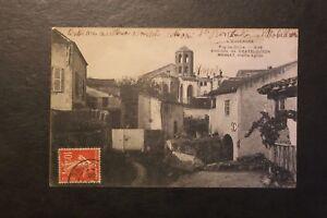 Tarjeta-Postal-Antigua-CPA-entorno-De-Chatel-Guyon-Marsat-Espera-la-Iglesia