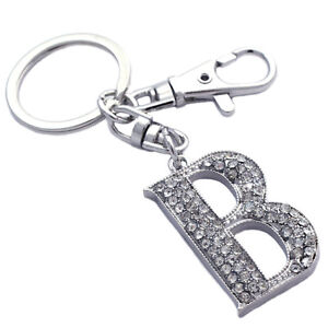 Image is loading English-Alphabet-Capital-Letter-Initial-B-Charm-KeyChain- b907028569