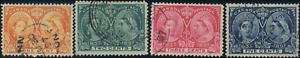 Canada-51-54-used-VF-1897-Queen-Victoria-Diamond-Jubilee-Part-Set-CDS-CV-96-50