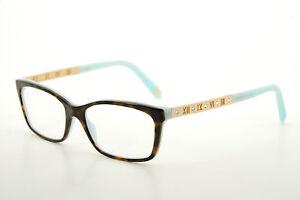 8abd65b448e2 New Authentic Tiffany   Co. TF2103B 8134 Havana Blue 53mm Eyeglasses ...
