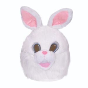 White-Bunny-Rabbit-Head-Mascot-Fancy-Dress-Animal-Accessory