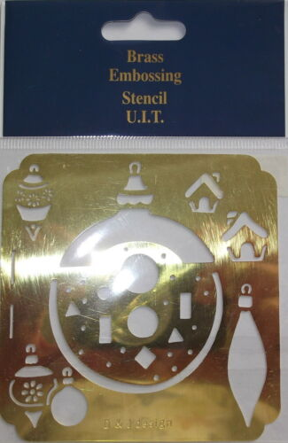 Small Brass Embossing Stencil etc scrapbooking Card making Xmas Decorations