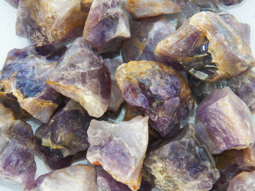 1 LB AMETHYST Rough Rock for Tumbling Tumbler Stones from INDIA