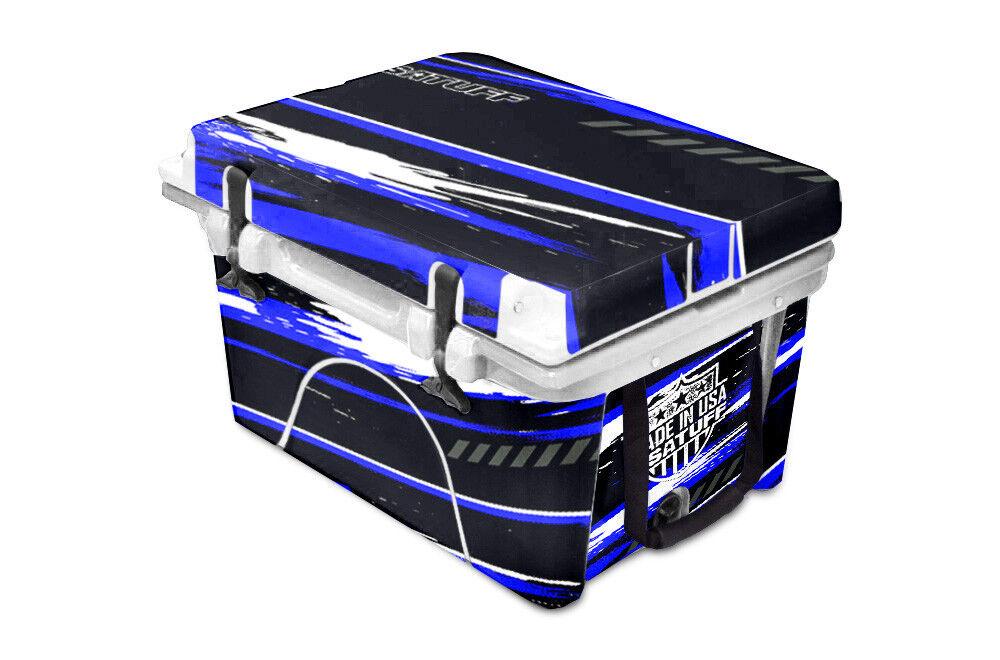Etiqueta engomada de la envoltura Personalizado usatuff se adapta Orca 58qt enfriador completo Rzr SXS Azul