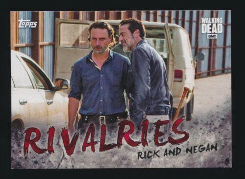 2017 WALKING DEAD SEASON 7 RIVALRIES 1-4 CARD SET INSERT