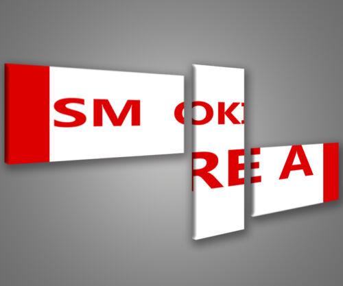 Quadri moderni area fumatori 180 x 70 stampe su tela canvas MIX-S/_72