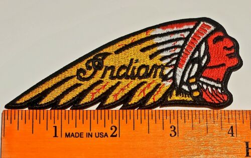 INDIAN MOTORCYCLE IRON//SEW-ON PATCH 4 1//4 INCH LONG