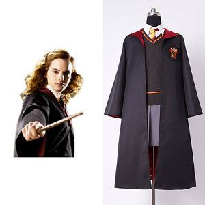 Image Is Loading Harry Potter Hermione Granger COSplay Costume   Gryffindor Adult  Sc 1 St EBay