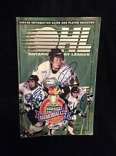 Corey Perry Rob Schremp Dave Bolland Signed OHL Media Guide London Knights