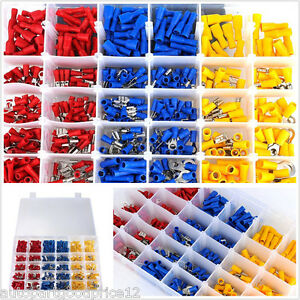 480-Pcs-Assorted-Insulated-Electrical-Wire-Terminals-Crimp-Connectors-Spade-Set