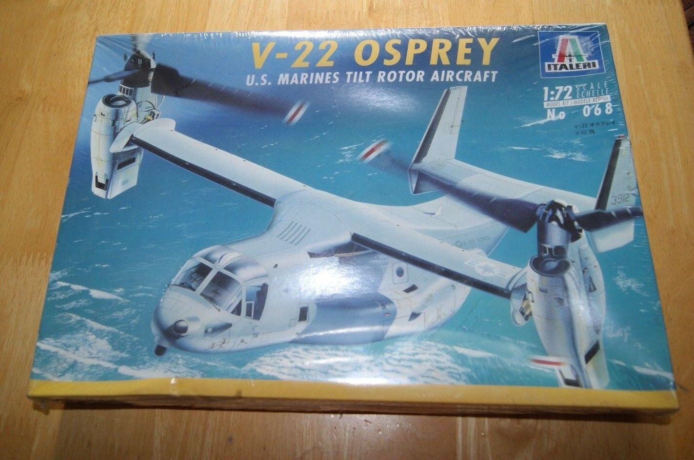 Italeri 1 72 V-22 Osprey US Marines Tilt redor Aircraft Plastic Kit