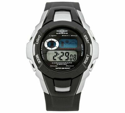 Diplomatisch New Umbro Black Plastic Strap Chronograph Watch With Digital Display Uk_seller