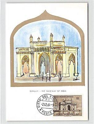 Briefmarken Vatican Mk 1964 Bombay Gateway Of India Maximumkarte Maximum Card Cm Mc Cm D9696 Quell Sommer Durst Diverse Philatelie