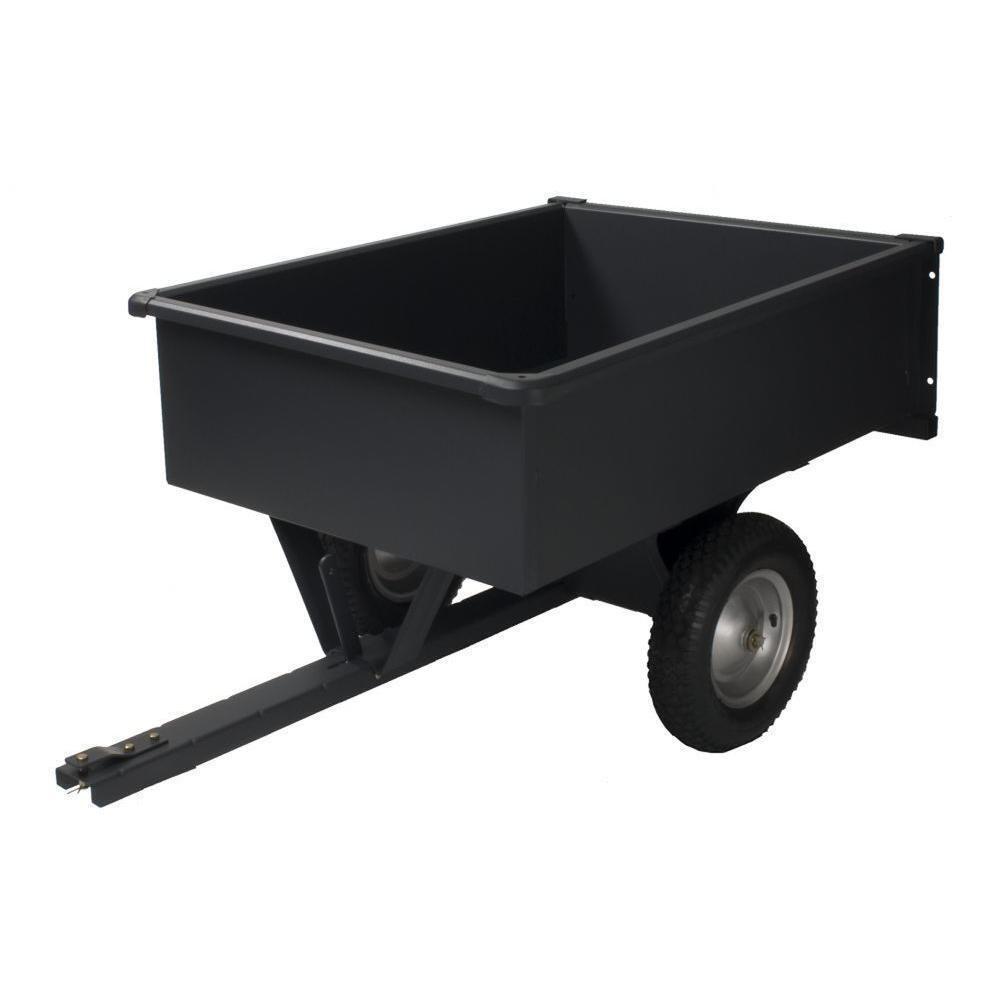 750 lb. Capacity Steel Trailing Dump Lever Garden Utility Cart Outdoor Equipment