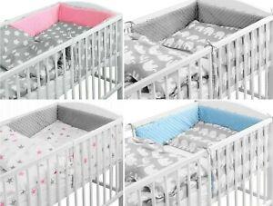 LUXURY-BABY-SOFT-DIMPLE-BEDDING-SET-3-5-6-PCS-BUMPER-PILLOW-DUVET-FIT-COT-120x60