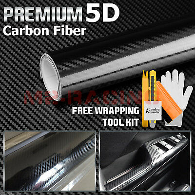 60 Quot X72 Quot 5d Ultra Shinny Gloss Glossy Black Carbon Fiber