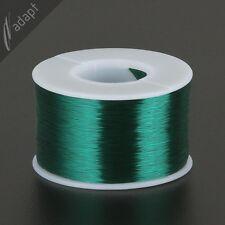 Magnet Wire, Enameled Copper, Green, 42 AWG (gauge), 155C, ~1/2 lb, 24500 ft S