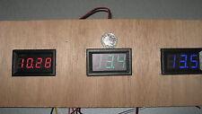 Green 12v Volt Voltmeter Low Energy Tester Gauge Panel Dash Van Boat Solar Bike