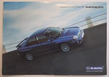 SUBARU IMPREZA orig 2001 UK Mkt Accessories Price List Brochure