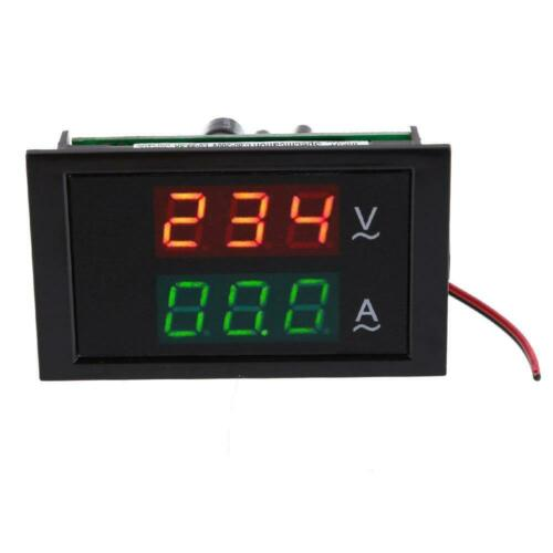 AC80-300V 100A Display LED Digital Voltmeter Ammeter Volt Amp Panel Black