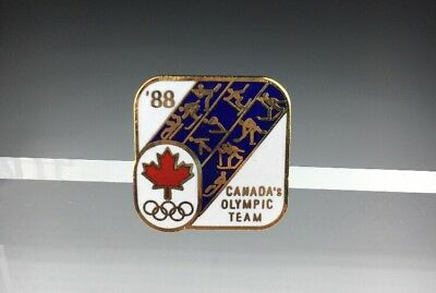 Vintage 1988 Canada Winter Olympic Games Canadian Calgary Olympics Lapel Pin