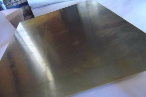 214 x 300 x 0.6 mm  A4 Size Quality Made BRASS 0.6 mm Soft  Brass Sheet