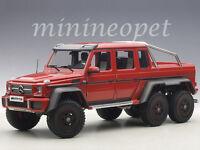 Autoart 76304 Mercedes Benz G63 6x6 1/18 Model Car Red