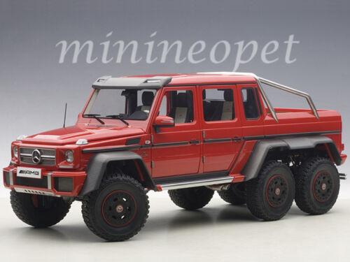 AUTOart 76304 MERCEDES BENZ G63 6X6 1//18 MODEL CAR RED