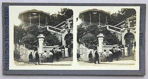 Monaco Installa Carlo Foto Stereo Analogica Vintage Verso 1900