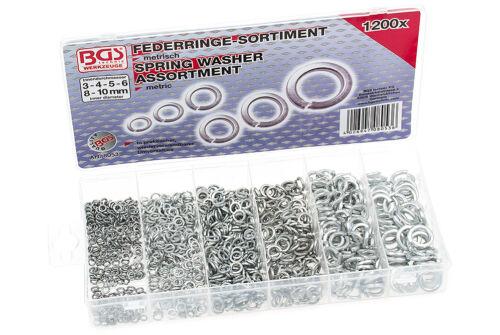 Federringe Set Sicherungsringe Satz BGS Werkzeug Federring Sortiment 1.200 tlg