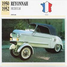 1950-1952 REYONNAH MICROCAR Classic Car Photograph / Information Maxi Card