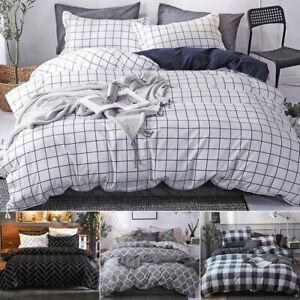 Couverture-Housse-de-couette-Literie-2-taies-d-039-oreiller-Simple-Double-Coton