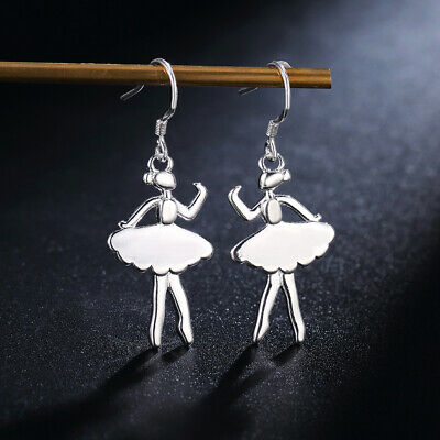 Fashion wedding Silver Pretty cute women circle lady Earring jewelry E156