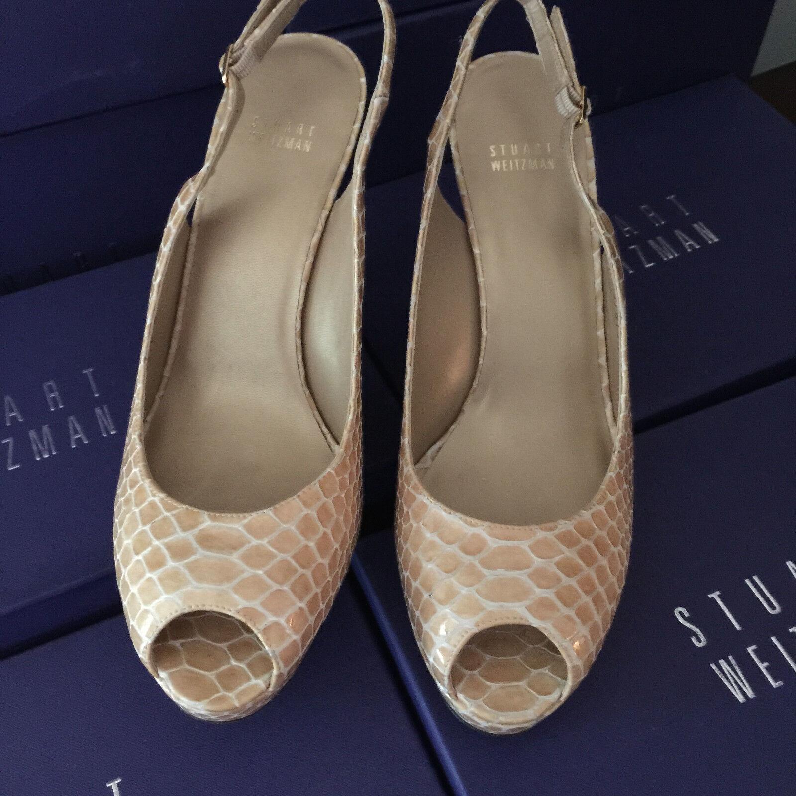Nuevos Zapatos para mujer Stuart Weitzman Talla 11 Beige Charol Charol Charol Arena Crtstal  la red entera más baja