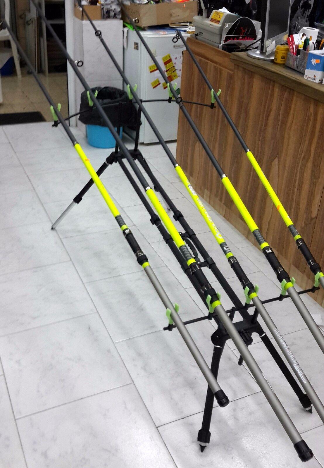 Fishing Rod Pod Carp 5 Aluminum U+V Holders + Case-Stand for 5 Carp Rods S.I.L 9be576