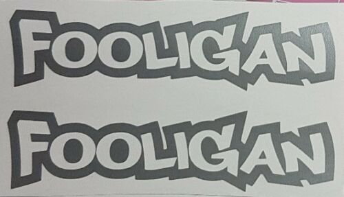 lots of colours available 2x fooligan vinyl stickers