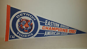 1987 TIGERS AMERICAN LEAGUE EASTERN DIVISION CHAMPIONS PENNANT