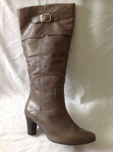 save up to 80% new arrivals online retailer Next Brown Knee High Leather Wide Fit Boots Size 38   eBay